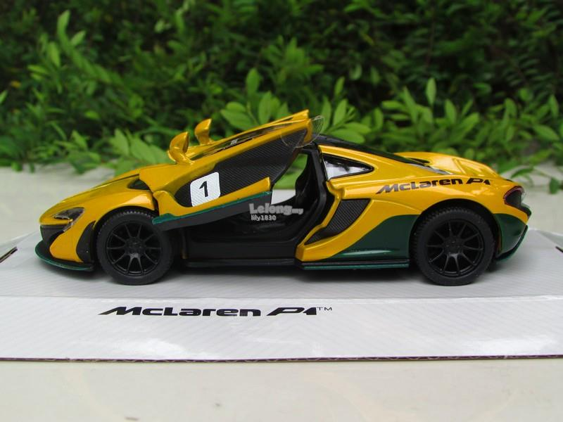 Kinsmart 5' (1/38) Die Cast Metal McLaren P1 (Yellow)