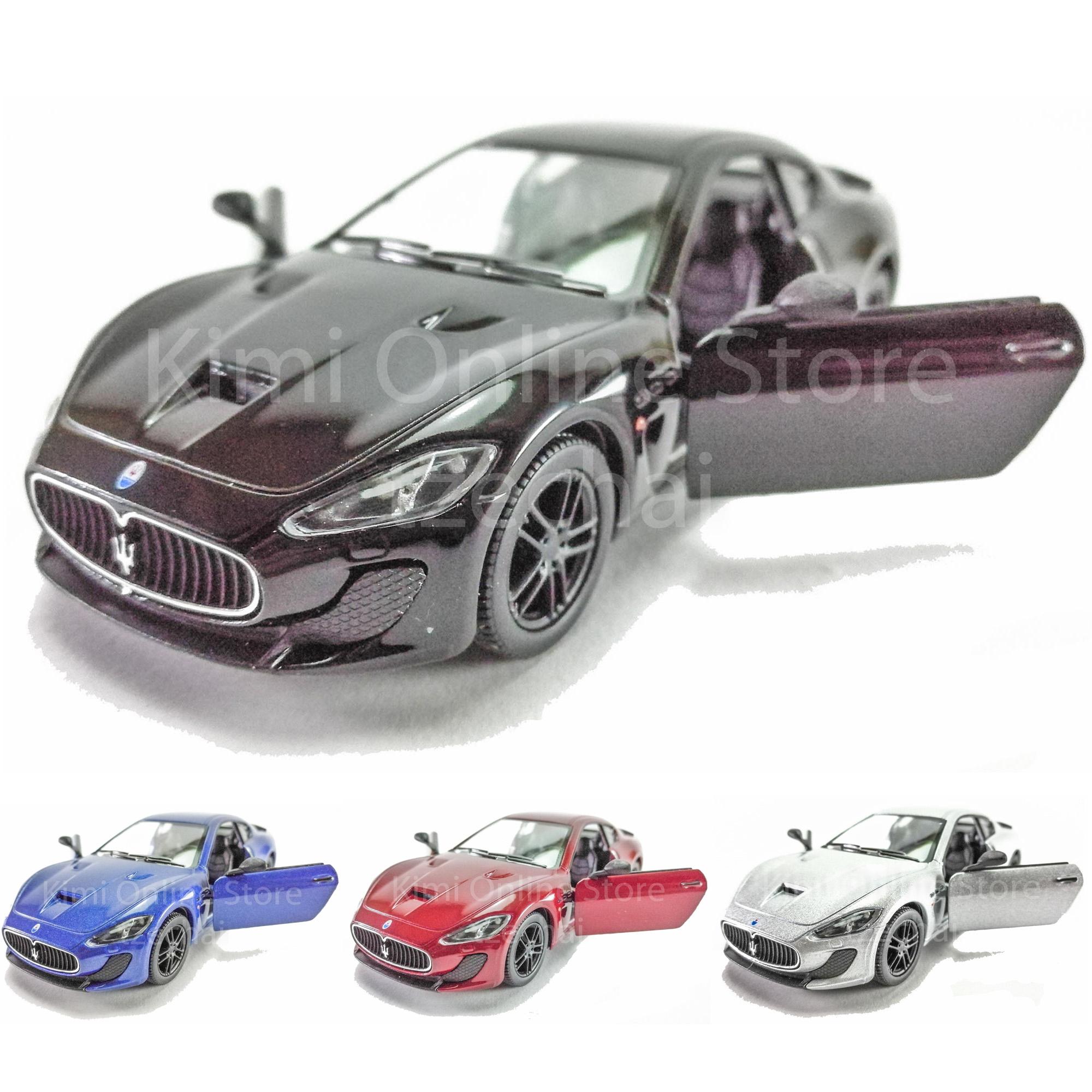 Kinsmart Diecast Car 1:38 Maserati GranTurismo MC Stradale Red Blue Black  Silv. U2039 U203a