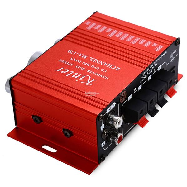 Kinter MA-170 Mini 12V 100W Hi-Fi Stereo Amplifier Booster DVD MP3 Spe