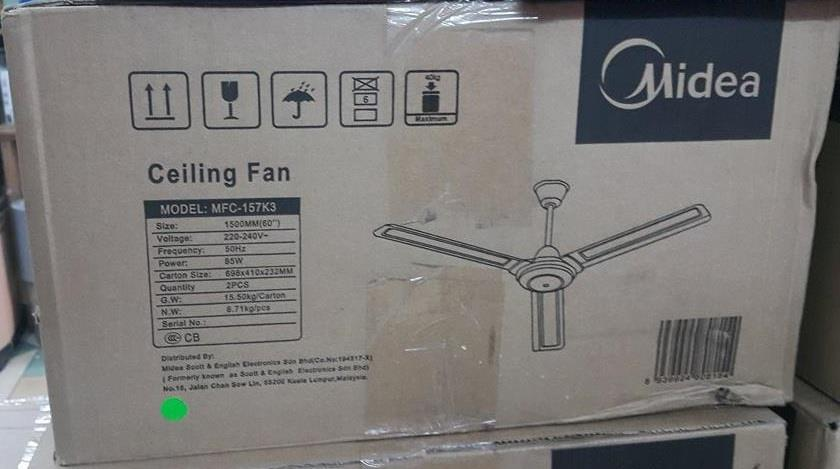 Kipas Siling Fan Ceiling Midea Airconditioner Warranty