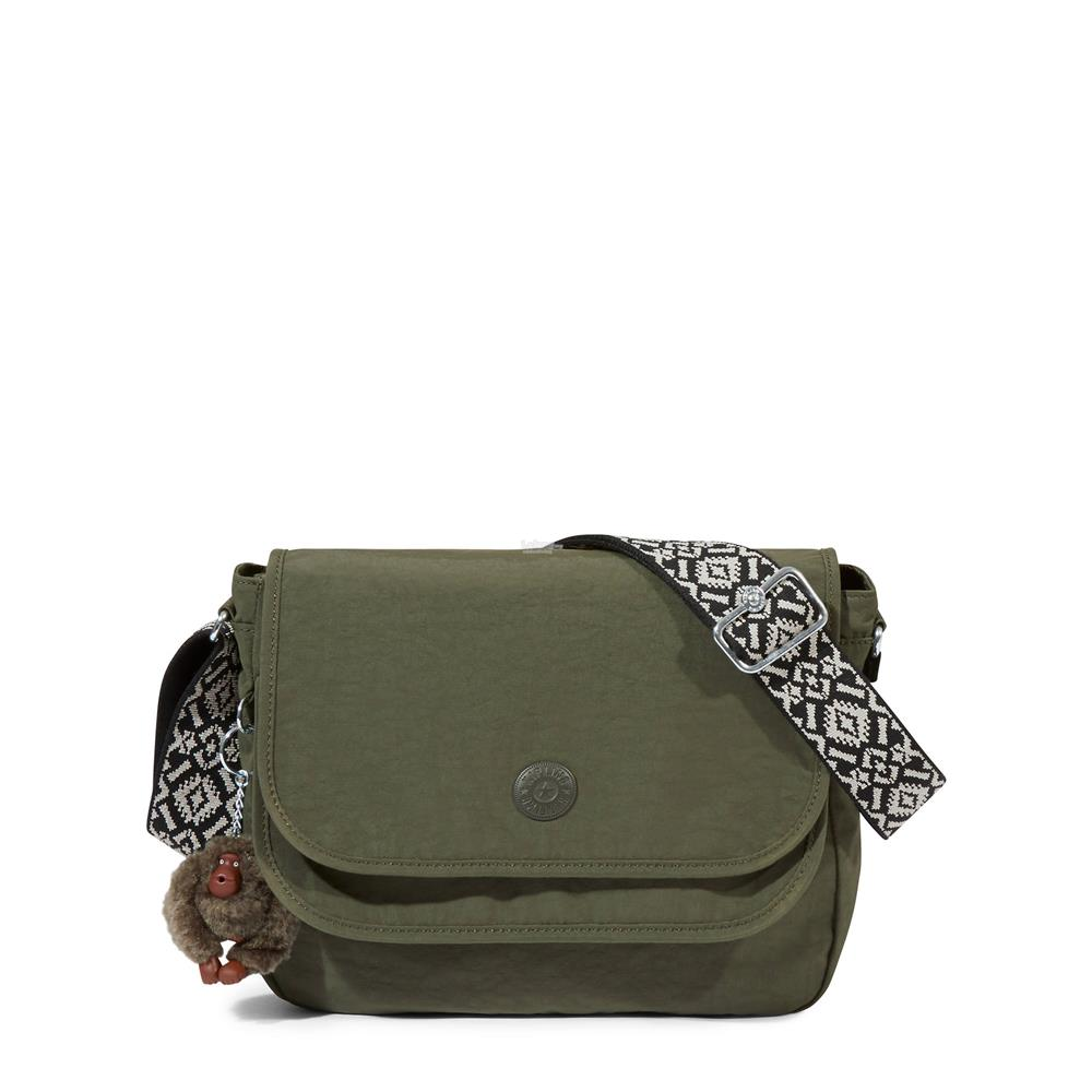Kipling Brooklyn Crossbody Bag Jaded Green Handbag