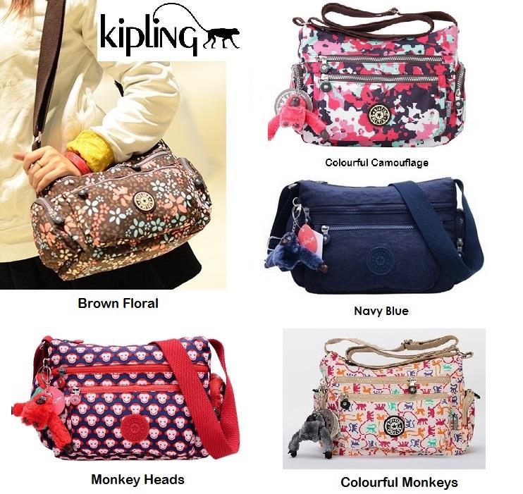 Kipling Cross Body Travel Bag Sling Handbag Waterproof Nylon