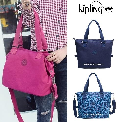 Kipling Tote Bag Large Capacity Nylon Handbag No Keychain