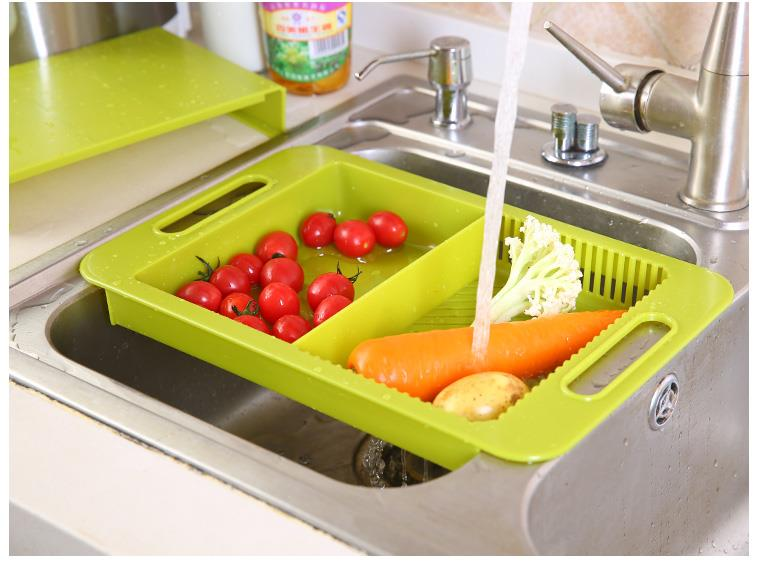 Kitchen Adjustable Detachable Dripping Chopping Board