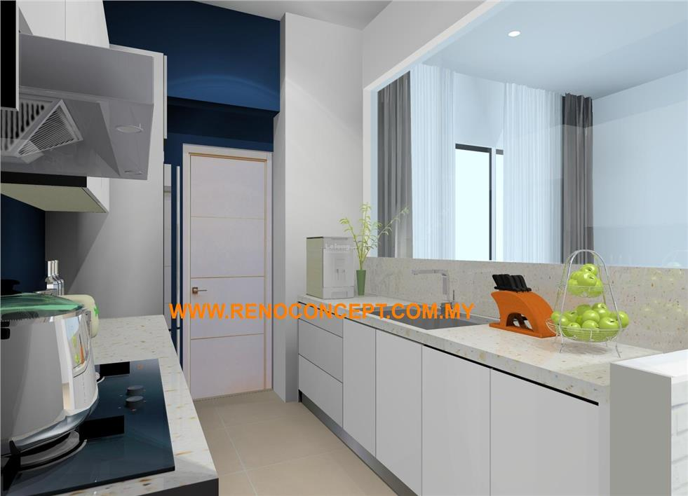 2017 Kitchen Cabinet White Penang Imperial Ressidence