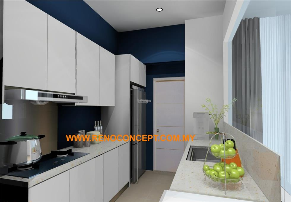 Kitchen cabinet White - PENANG IMPER (end 8/24/2018 3:15 PM)