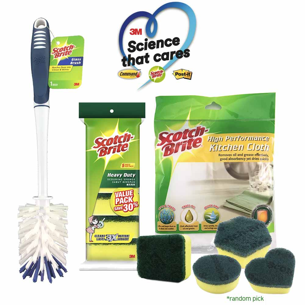 Kitchen Cleaning Bundle - 3M 50th Year Annivesary Value Pack