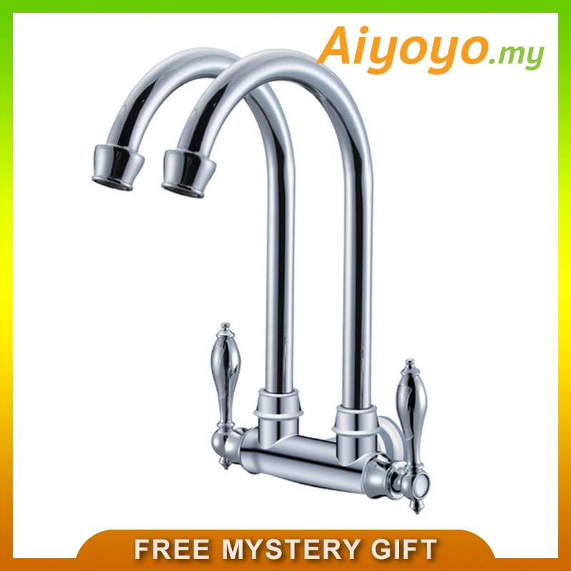Kitchen Double Sink Water Tap Fauce (end 7/27/2020 12:40 PM)