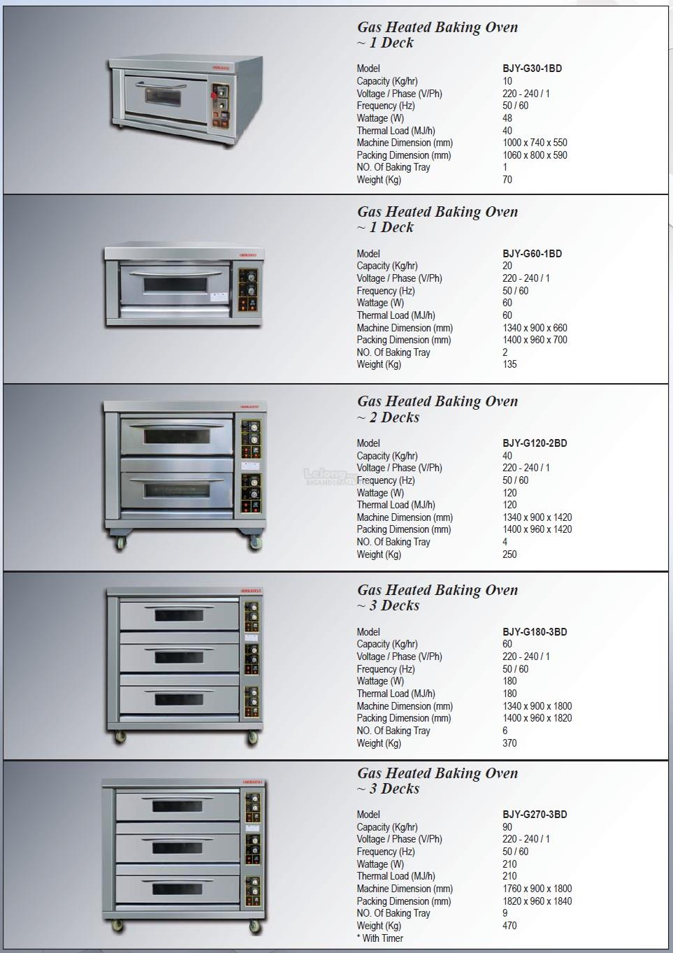 Kitchen Equipmen Gas Baking Oven G301BD G601BD G1202BD G1803BD G2703BD