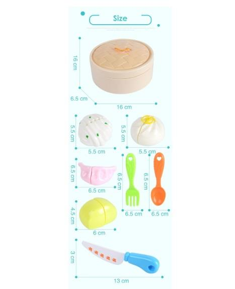 Kitchen Food Cutting Toy Pau Dim Sum Kid Pretend Play
