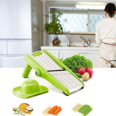Kitchen Multi-function Vegetable Cutter Food Slicer (GREEN)