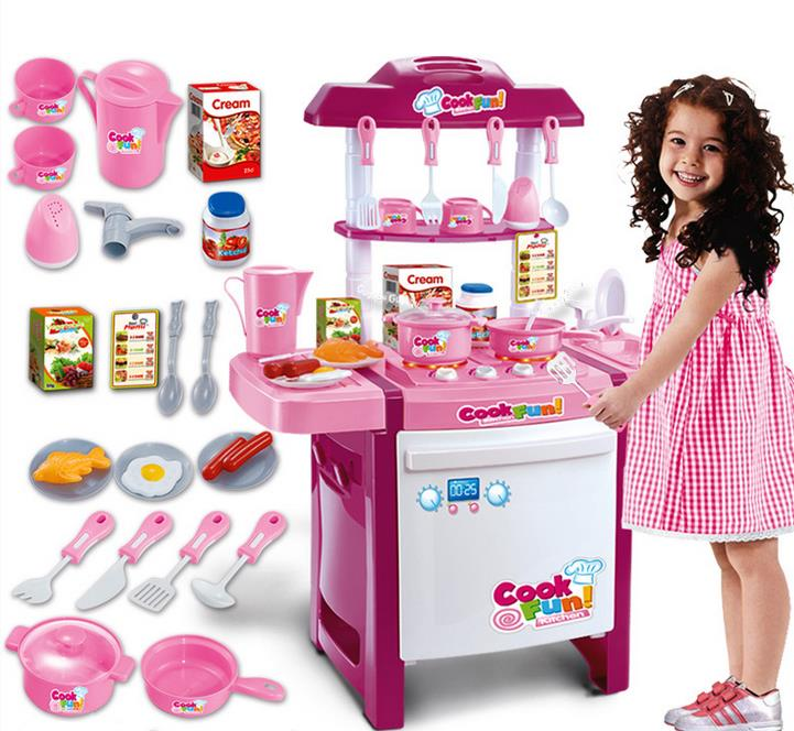 Kitchen Playset Pink and Red (end 2/11/2018 3:06 PM)