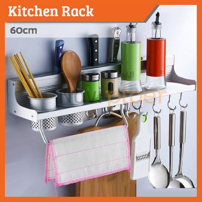 Kitchen Rack Wall Mounted Shelf Storage Holder 60cm