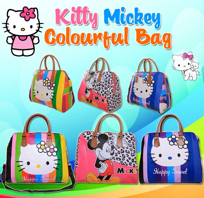Kitty Mickey Colourful Bag BLUE