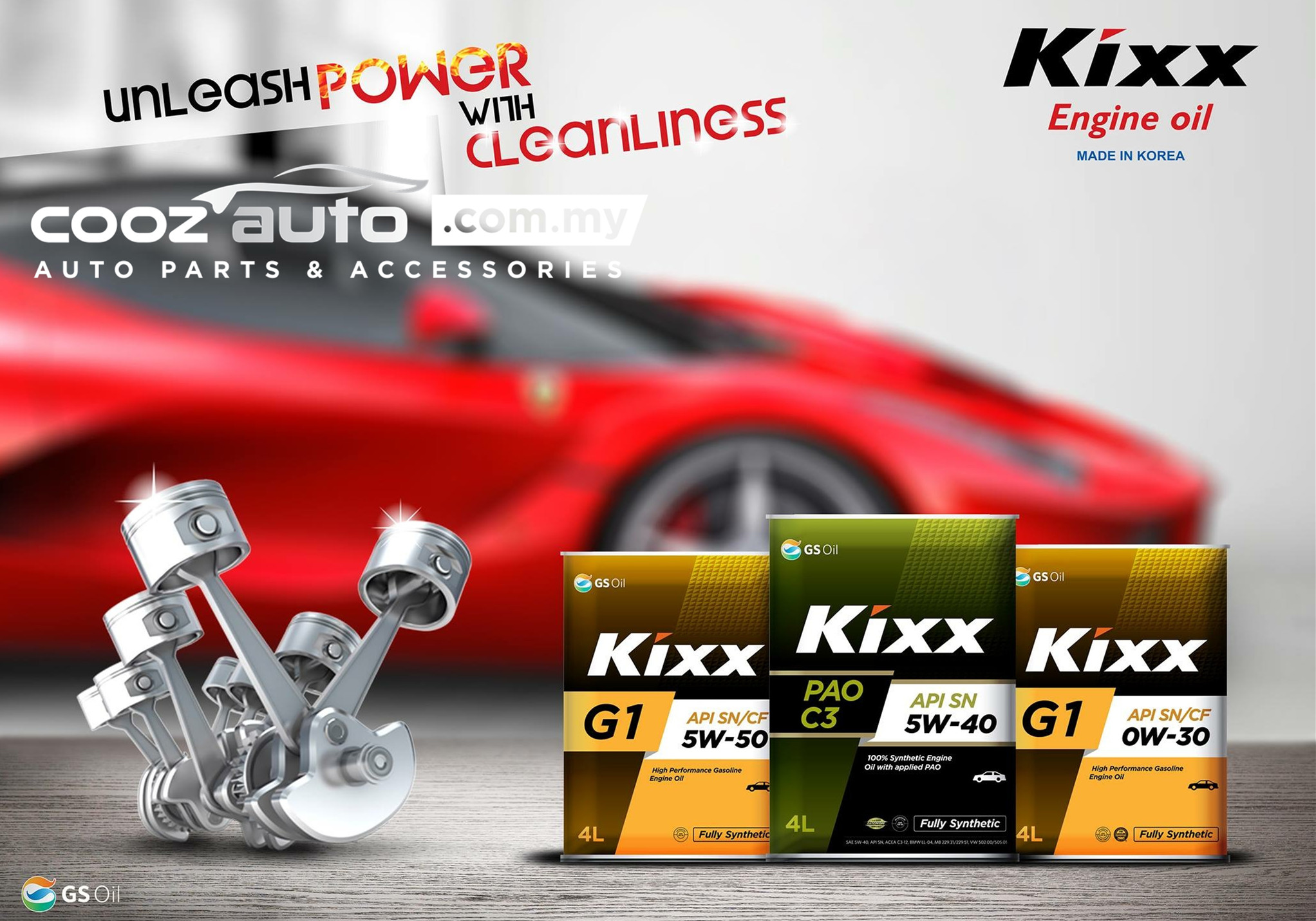 Kixx G1 5W30 Fully Synthetic Engine Oil Perodua Alza Myvi Bezza FREE Oil  Filte