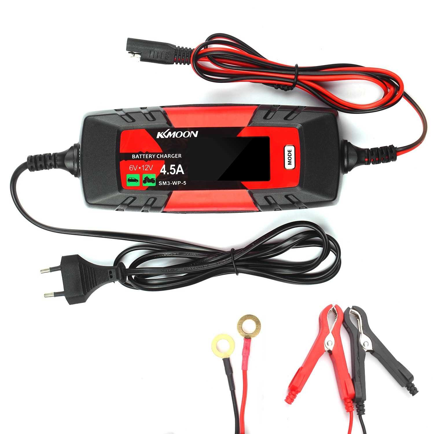 KKmoonCar Automatic Battery Charger & Maintainer 6V/12V 4Amp