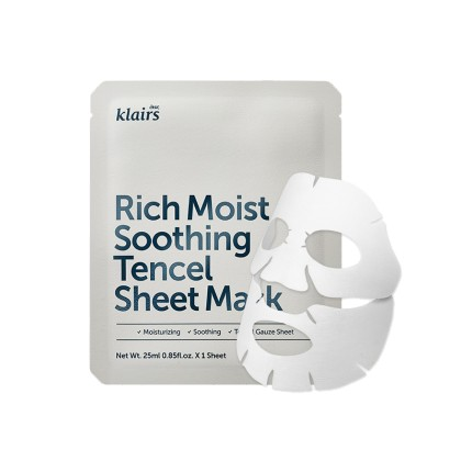 KLAIRS Midnight Blue Calming/Rich Moist Soothing Tencel Sheet Mask