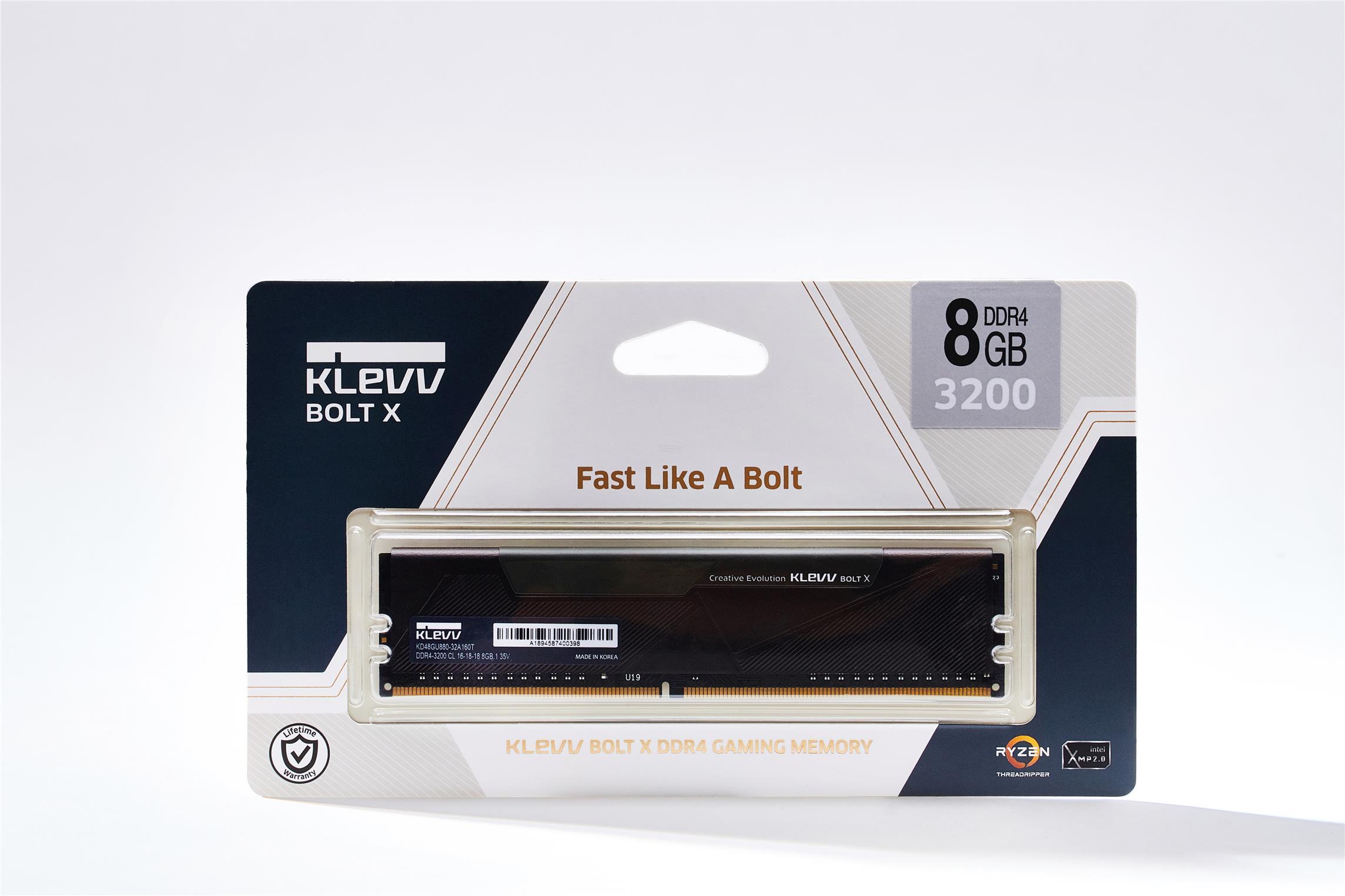 # KLEVV Bolt X 1x8GB DDR4 Gaming Memory # 2666MHz | 3200MHz