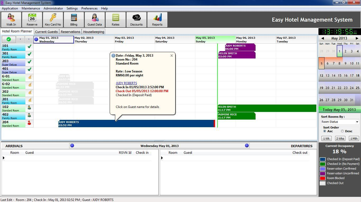 KMS Hotel Management System Software with Mykad Smart Card Reader
