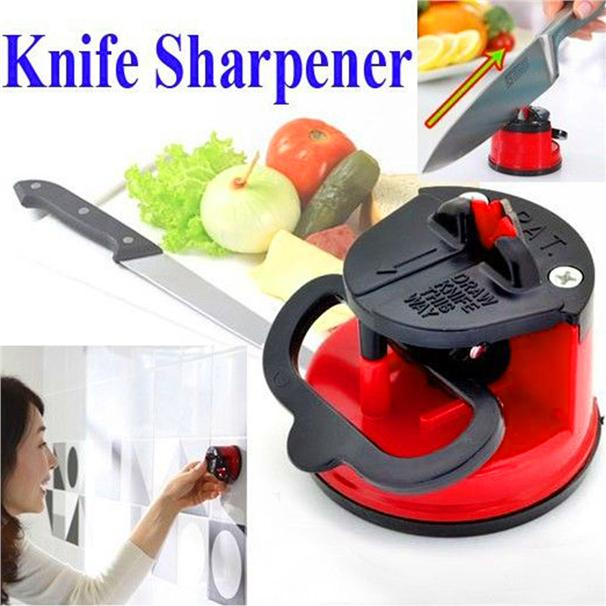 Knife Scissors Mini Grinder Sharpener Kitchen Kit Tool With Sucti