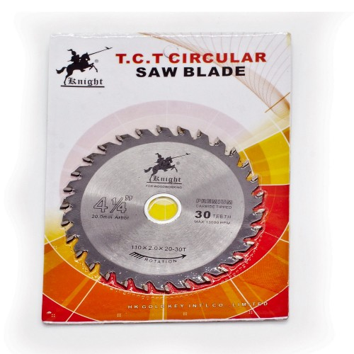 "KNIGHT 4 1/4 "" T.C.T circular Saw Blade 30 teeth 110*2.0*20mm"