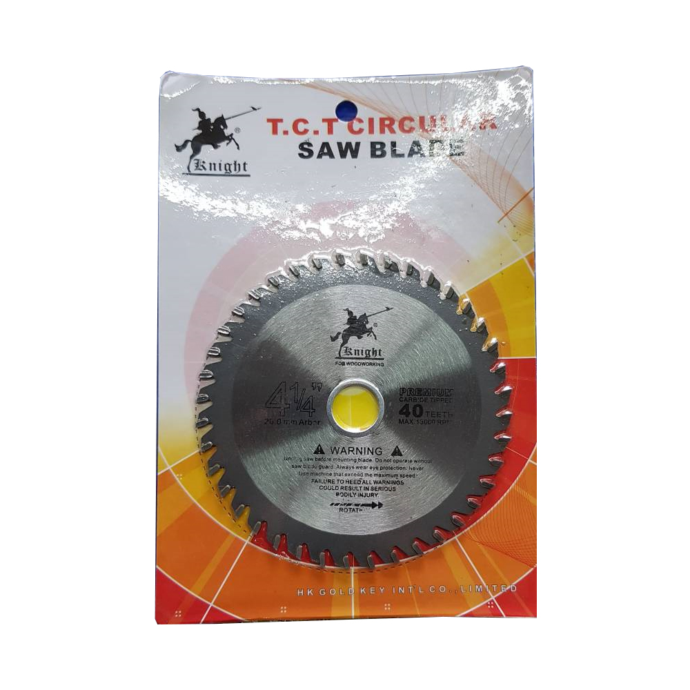 "KNIGHT 4 1/4 "" T.C.T circular Saw Blade 40 teeth 110*2.0*20mm"