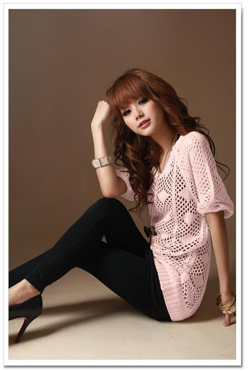 Knitting Blouse (Pink)