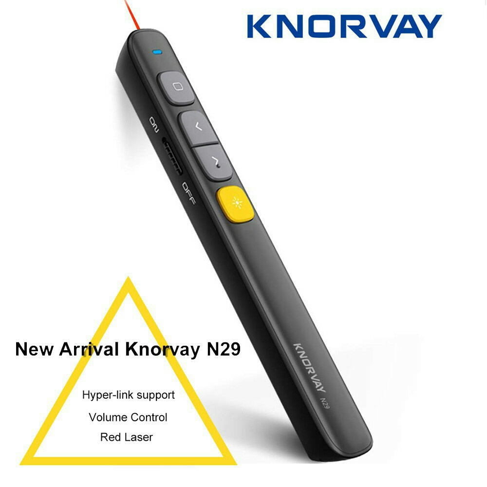 Knorvay N29 2.4GHz RF Pointer Pen Wireless Remote Red Laser Pointer wi