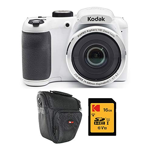 Kodak PIXPRO AZ252 Astro Zoom 16MP Digital Camera (White) with Kodak 16GB SD C