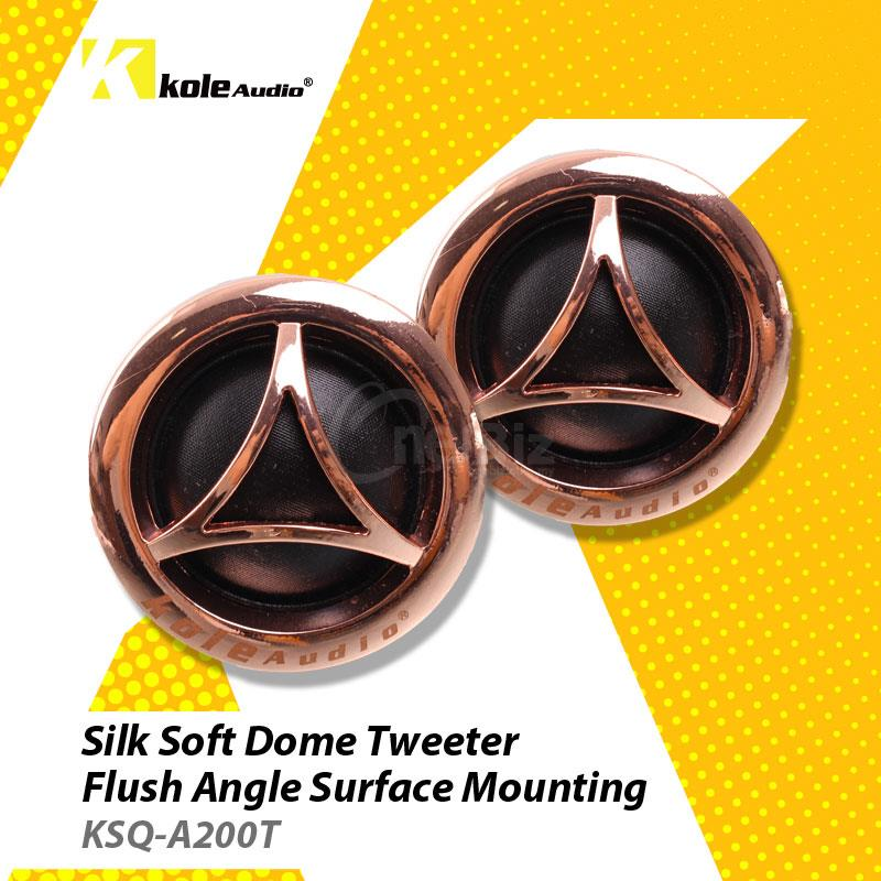 Kole Audio-25MM Tweeter Flush Angle Surface Mounting-KSQ-A200T