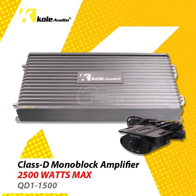 Kole Audio - QD Series Class-D Monoblock Amplifier - QD1-1500