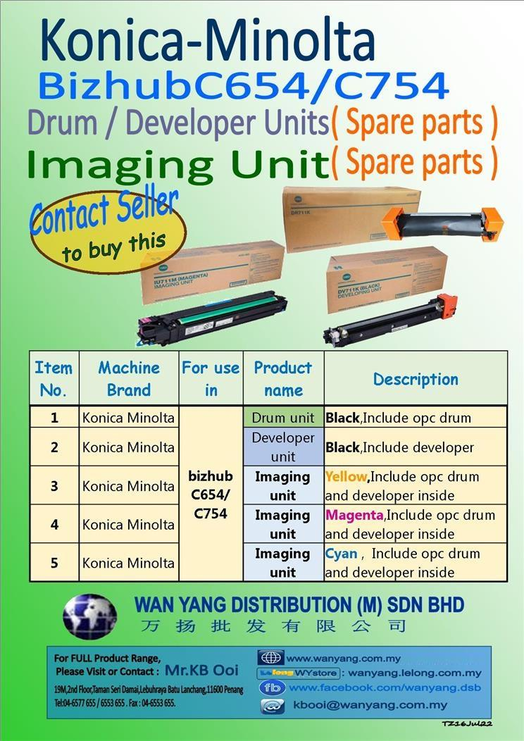 Konica MinoltaBizhub C654/754Drum/Developer/Imaging Unit(Spareparts)