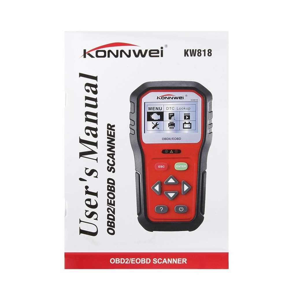 KONNWEI KW818 Car Engine Fault Code Reader Scanner Auto Automotive Engine Diag