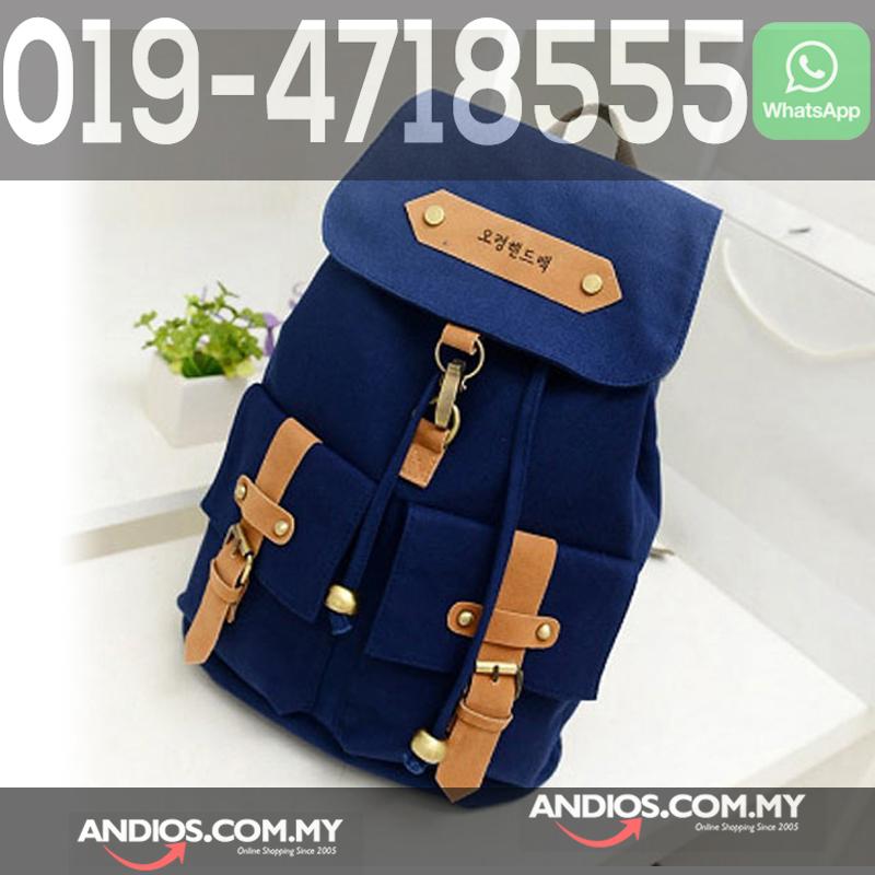 06c5a88737b Korea Backpack Bag Vintage School Canvas Laptop Notebook Beg