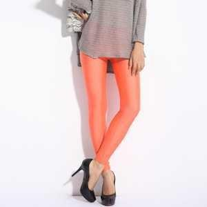 Korea Fashion~Elastic Fluorescence Pants (Orange) 13154