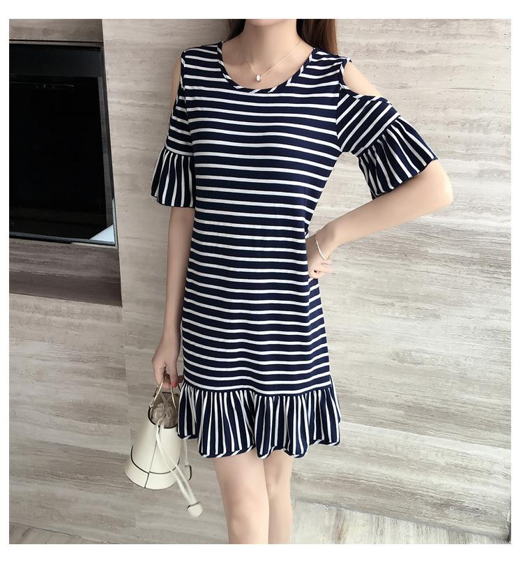 KOREA FASHION DRESS LOOK THIN 2017 LATEST BLACK WHITE PROMO CHEAPEST