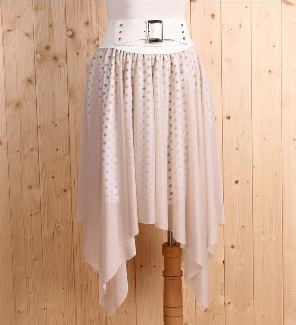 Korea Fashion~Elegant Irregular Skirt (Khaki)