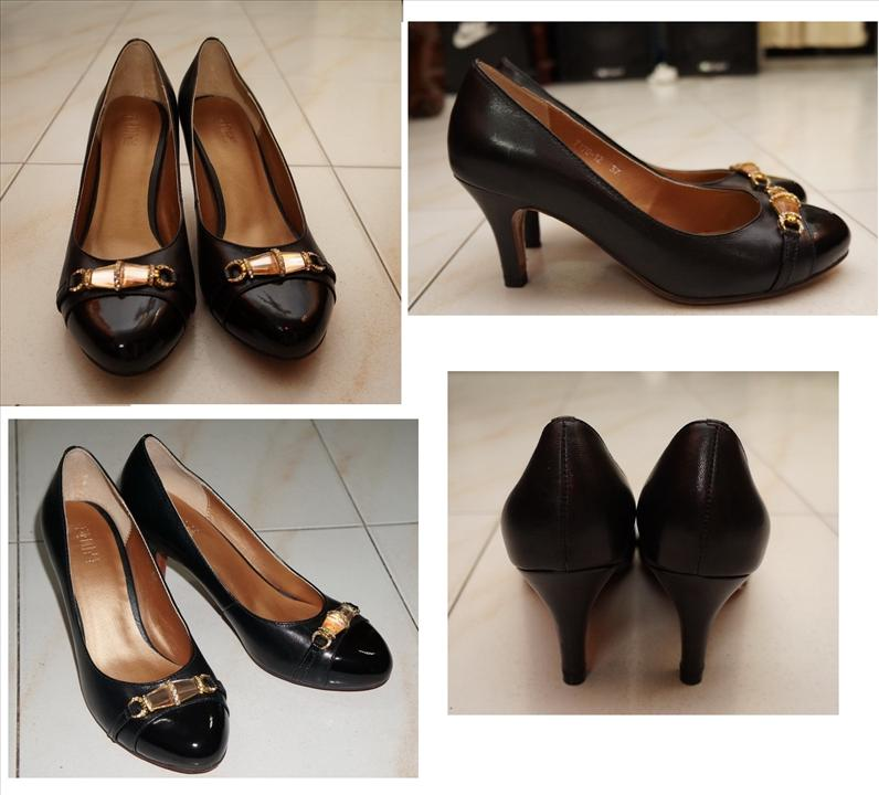 Korea High quality Genuine Leather heel Size 7