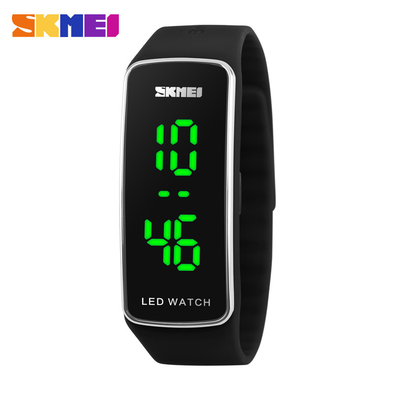 Korea Sport SKMEI LED Digital Women Watch SKM1119 SILVER