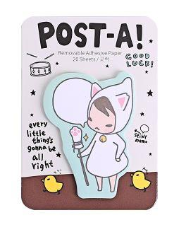 Korea Sticky Notes Post It Notes Pony Brown 20 Sheets 'Good Luck'