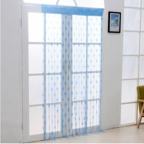 Korea Style Romantic Love Line Curtain (Light Blue)