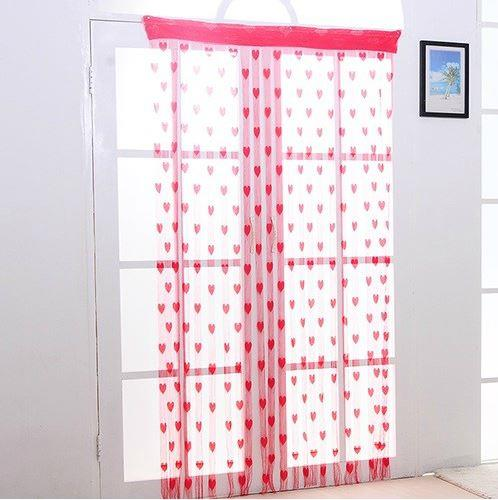 Korea Style Romantic Love Line Curtain (Red)