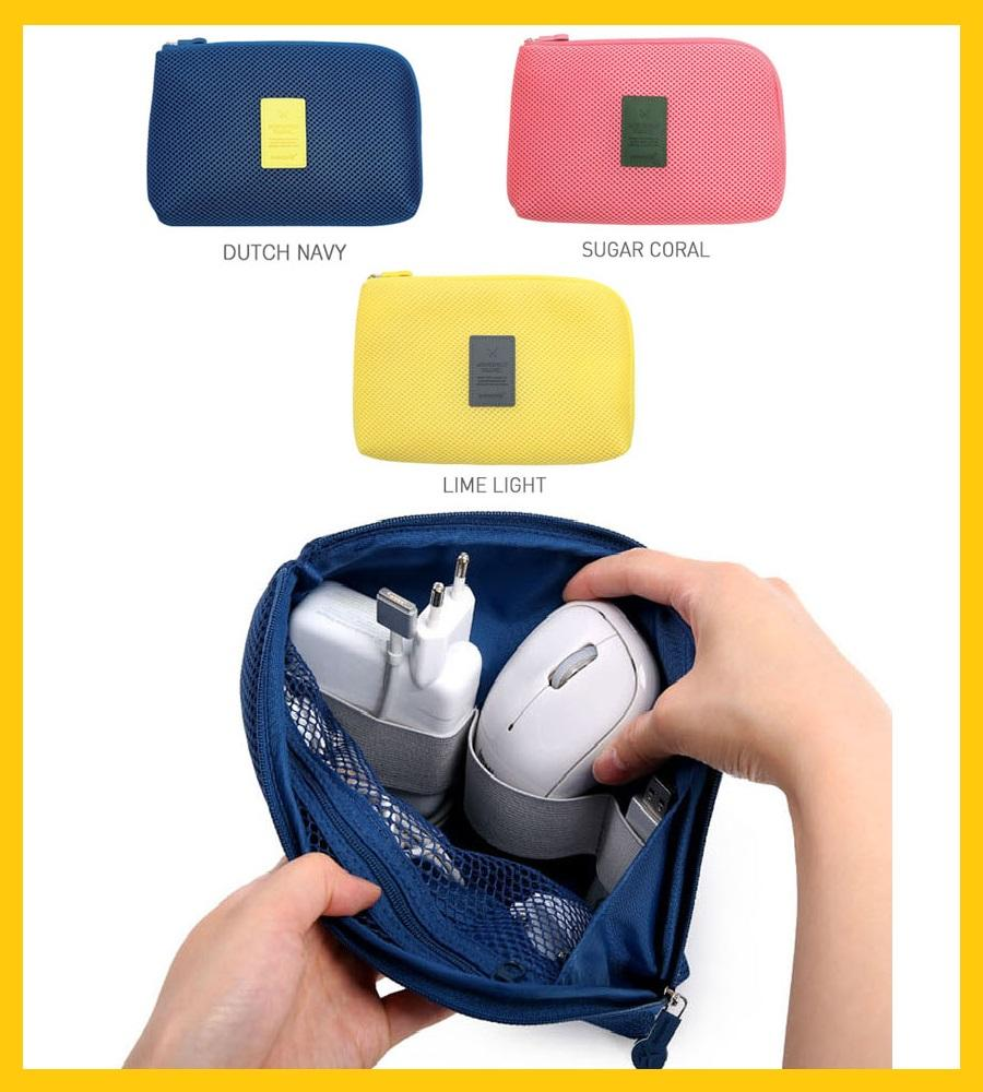 Korea Stylish Travel Pouch for Mobile Laptop Charger Cable Power Bank