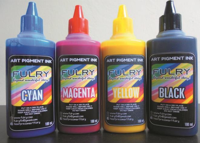 Korea Waterproof Art Pigment Ink CMYK - FULRY