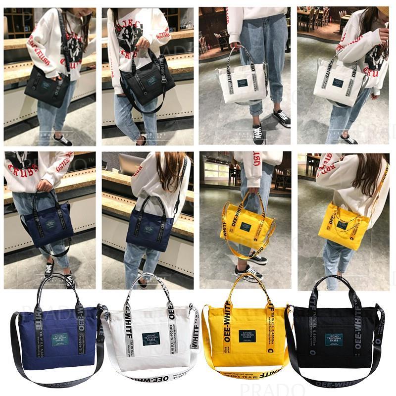 5cbae69285 Korean Canvas Tote Bag 23 Casual Handbag Grocery Shoulder Sling Travel