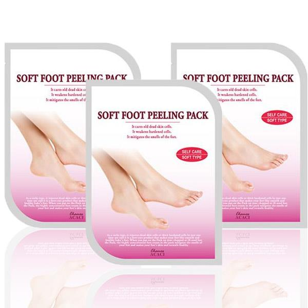 Korean Chamos Acaci Peeling Foot Mask 1 Box 3 Pairs