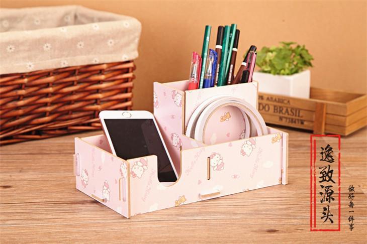Korean Creative Diy Desktop Wood Storage Box S