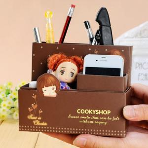 Korean Creative DIY Table Storage Box (Coffee)