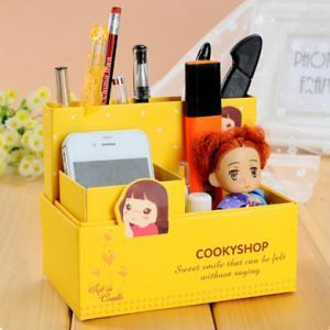 Korean Creative DIY Table Storage Box (Yellow)