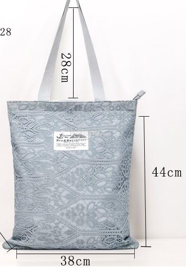 Korean Design Lace Canvas Tote Bag (end 8 27 2019 11 20 PM) 3f2391147f8e5
